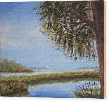 Still Water Wood Print