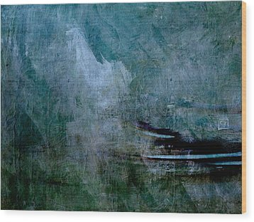 Wood Print featuring the painting Stillness In The Storm by Jean Moore