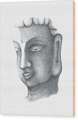 Stillness Wood Print by Keiko Katsuta