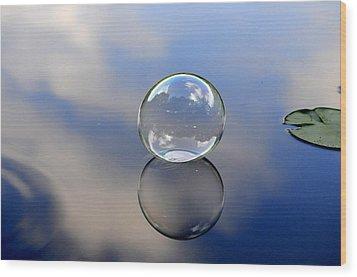 Stillness Of Water Wood Print