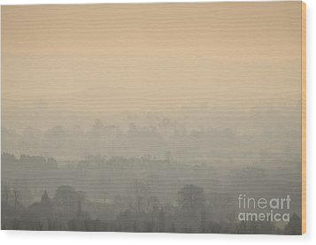 Stillness Over The Oxfordshire Countryside Wood Print by OUAP Photography