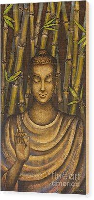 Stillness Speaks Wood Print by Yuliya Glavnaya