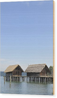Stilt Houses At Lake Constance Germany Wood Print by Matthias Hauser