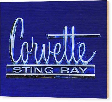 Sting Ray 001 Wood Print