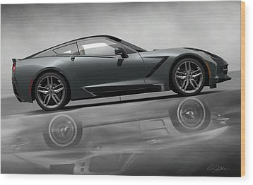 Stingray Returns Wood Print by Peter Chilelli
