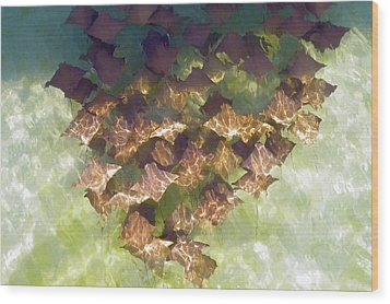 Wood Print featuring the photograph Stingrays At Navarre Beach In Florida by Teresa Schomig