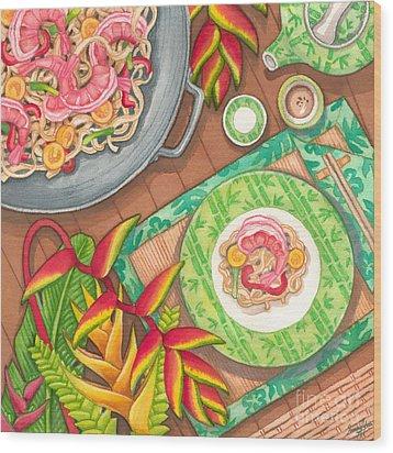 Stir Fry  Wood Print by Tammy Yee