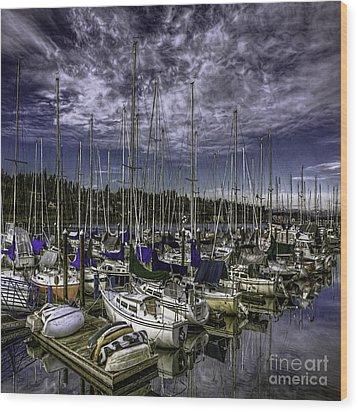 Wood Print featuring the photograph Stirring The Sky by Jean OKeeffe Macro Abundance Art