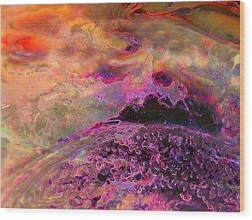 Stirrings In The Sea Wood Print