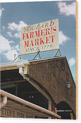 St.louis Market Wood Print