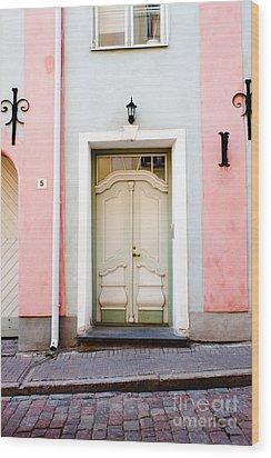 Stockholm Doorway Wood Print by Thomas Marchessault