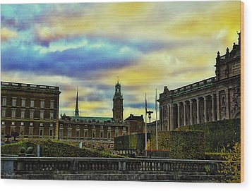 Stockholm II Wood Print by Ramon Martinez