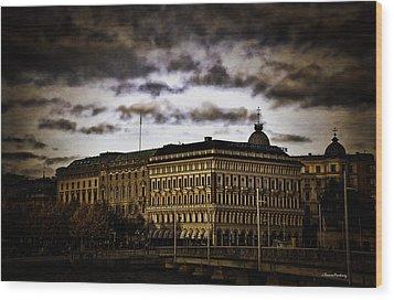 Stockholm V Wood Print by Ramon Martinez