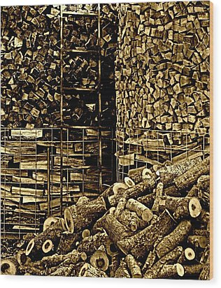 Stockpile  Wood Print by Chris Berry