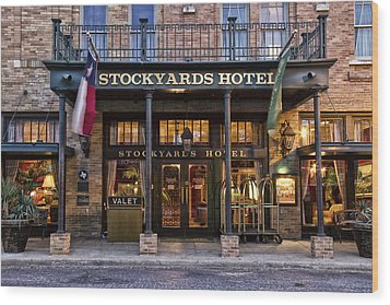 Stockyards Hotel Wood Print