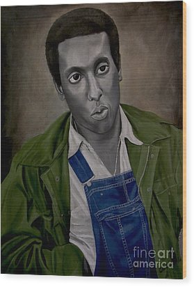 Stokely Carmichael Aka Kwame Toure Wood Print by Chelle Brantley