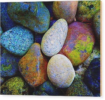 Stone And Light 9 Wood Print by Laurie Tsemak