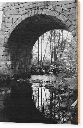 Stone Arch Bridge 2 Wood Print by Barbara Bardzik