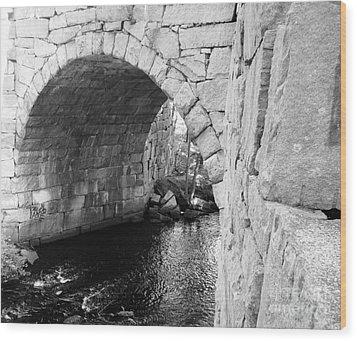 Stone Arch Bridge 3 Wood Print by Barbara Bardzik
