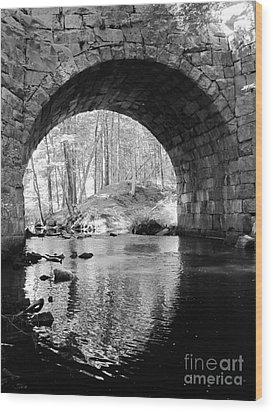 Stone Arch Bridge  Wood Print by Barbara Bardzik