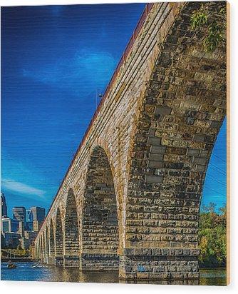 Stone Arch Bridge By Paul Freidlund Wood Print