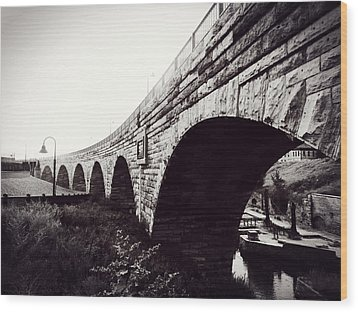 Stone Arch Bridge Wood Print