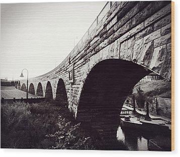 Stone Arch Bridge Wood Print by Zinvolle Art