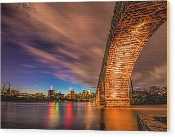 Stone Arch Minneapolis Wood Print by Mark Goodman