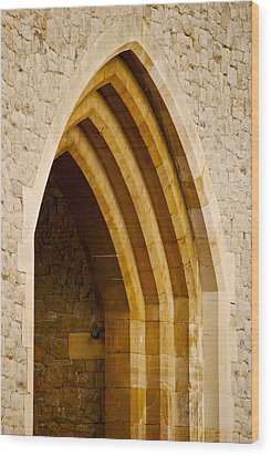 Stone Archway At Tower Hill Wood Print by Christi Kraft