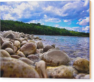 Wood Print featuring the photograph Stone Beach by Zafer Gurel