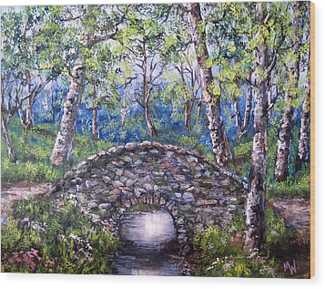 Stone Bridge 2 Wood Print by Megan Walsh