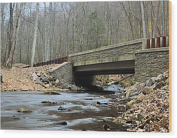 Stone Bridge At Cherry Run #1 - Bald Eagle State Forest Wood Print