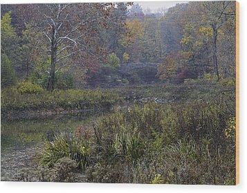 Stone Bridge In Autumn I Wood Print