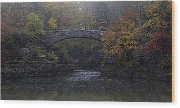 Stone Bridge In Autumn II Wood Print