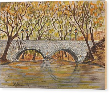 Stone Bridge Wood Print by Jack G  Brauer