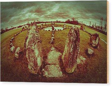 Stone Circle Wood Print by David Isaacson