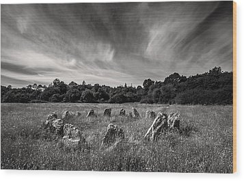 Stone Circle Ireland Wood Print by Pierre Leclerc Photography