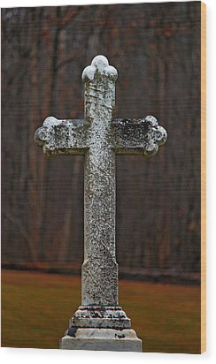 Stone Cross Wood Print by Rowana Ray