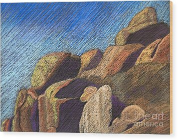 Stone Formations Wood Print by Pattie Calfy