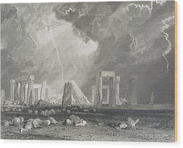 Stone Henge Wood Print by Joseph Mallord William Turner