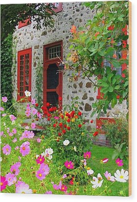 Stone House In The Country Wood Print by Rick Todaro