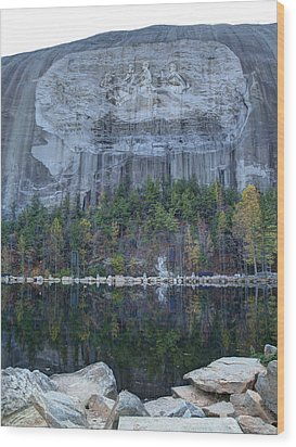 Stone Mountain - 2 Wood Print by Charles Hite