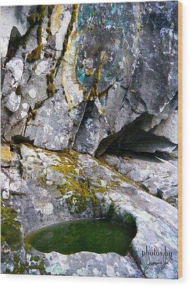 Stone Pool Wood Print