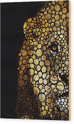 Stone Rock'd Lion - Sharon Cummings Wood Print by Sharon Cummings