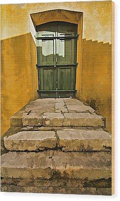 Stone Stair Entranceway  Wood Print by David Letts