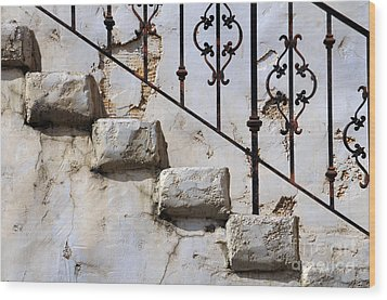Stone Stairs Wood Print by Dan Holm