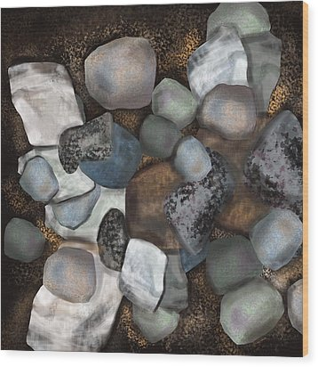 Stone Thoughts Wood Print by Christine Fournier