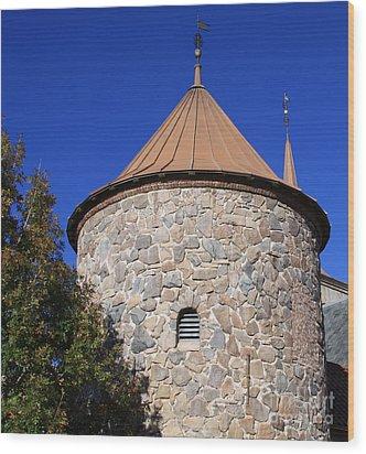 Stone Tower Wood Print by Chris Thomas