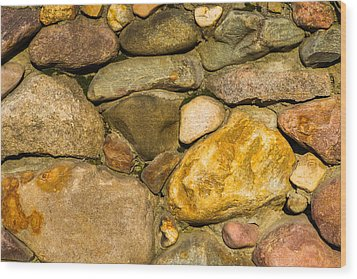 Stone Wall - Featured 3 Wood Print by Alexander Senin