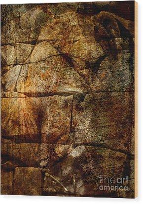 Stone Wall Wood Print by Judy Wood